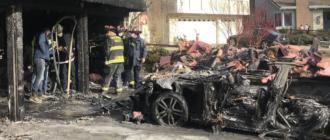 Электрокар Tesla устроил пожар на миллион долларов (фото)