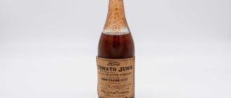 Бутылка томатного сока от Ford, которой 83 года: она уйдет с аукциона