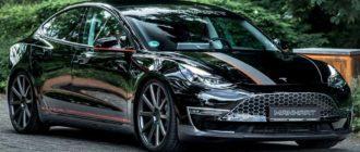 В компании Manhart поработали над электрическим седаном Tesla Model 3